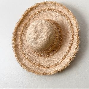 August hat Company straw fringe overdrive hat